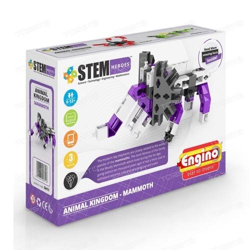 ENGINO Конструктор серии STEM HEROES -Царство животных: мамонт - фото 1 | Сеть аптек Viridis
